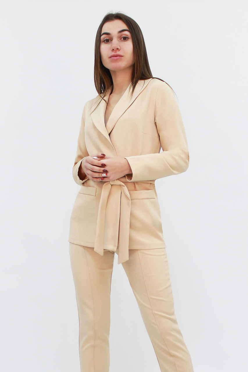 Стильний жіночий костюм Mango, бежевий