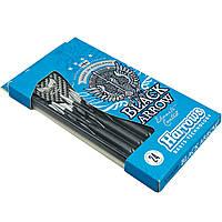 Дротики для игры в дартс цилиндрические BLACK ARROW B102-24 (сталь, вес 24гр, 3шт.,+3хвост,+3опер)