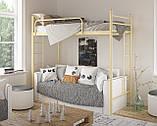 Кровать двухъярусная детская металлическая Эдельвейс Чердак МФ Тенеро, фото 4