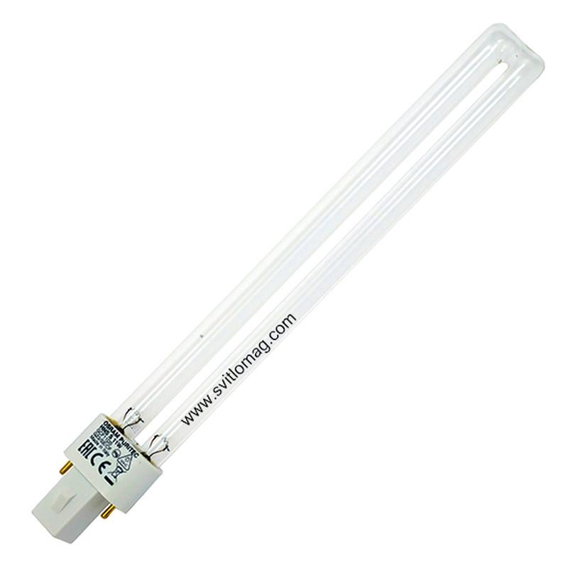 Лампа бактерицидная ультрафиолетовая HNS S 11w OSRAM G23 PURITEC UV-C