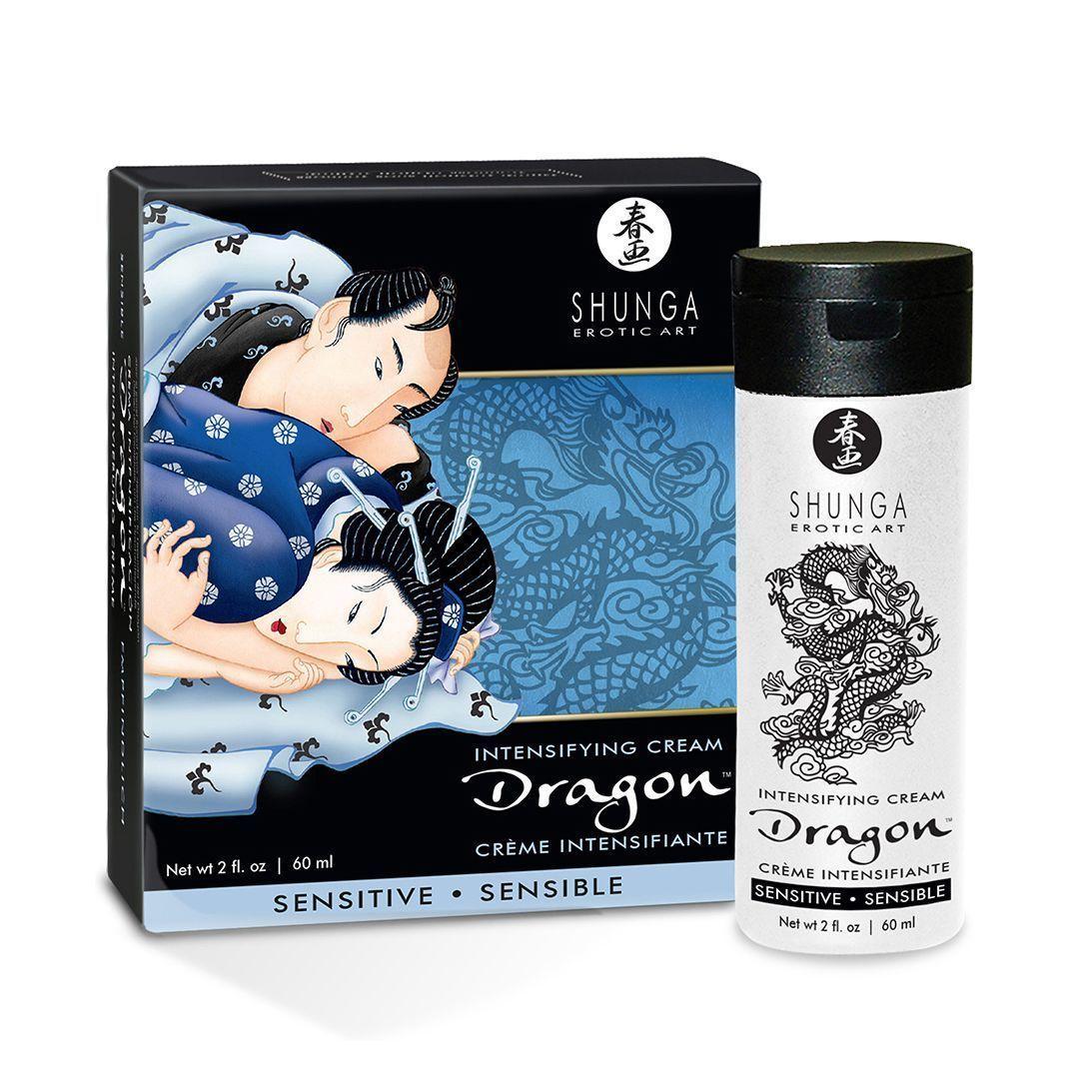 Стимулирующий возбуждающе-пролонгирующий крем для пар Shunga SHUNGA Dragon Cream SENSITIVE (60 мл)
