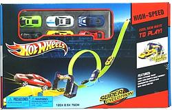 Дитячий трек запуск Хот Вілс | Hot Wheels HW201 (6 машинок)