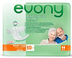 Подгузники для взрослых Evony 3 Large 30 шт (8690536804085)