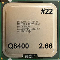 Процессор ЛОТ#22 Intel Core 2 Quad Q8400 R0 SLGT6 2.66GHz 4M Cache 1333 MHz FSB Soket 775 Б/У, фото 1