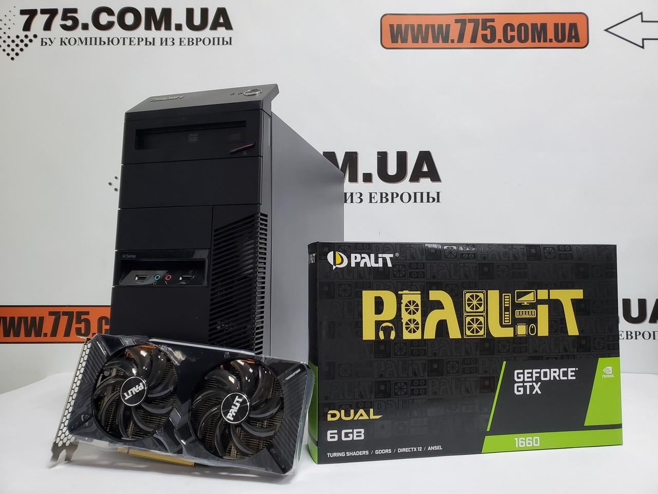 Игровой компьютер Lenovo M82, Intel Core i5-3570 3.8GHz, RAM 8ГБ, SSD 120ГБ, HDD 500ГБ, GeForce GTX 1660 6GB