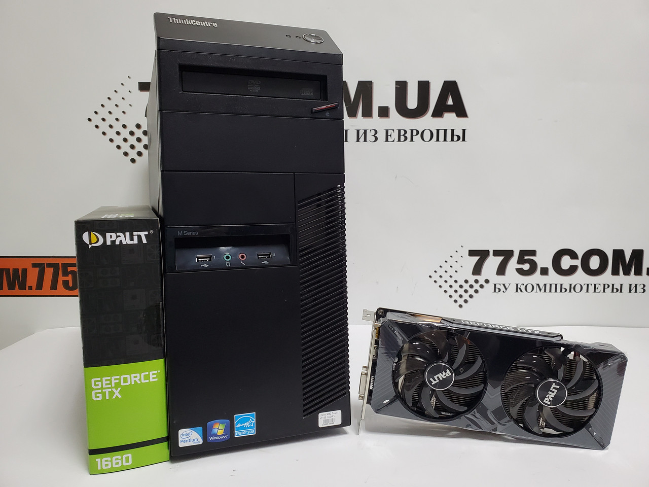 Игровой компьютер Lenovo M82, Intel Core i7-2600 3.8GHz, RAM 8ГБ, SSD 120ГБ, HDD 500ГБ, GeForce GTX 1660 6GB