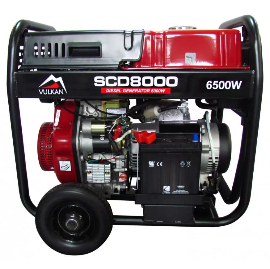 Генератор дизельний 6.0 кВт, Vulkan SCD8000