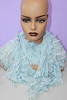 Женский ажурный шарф однотонный
