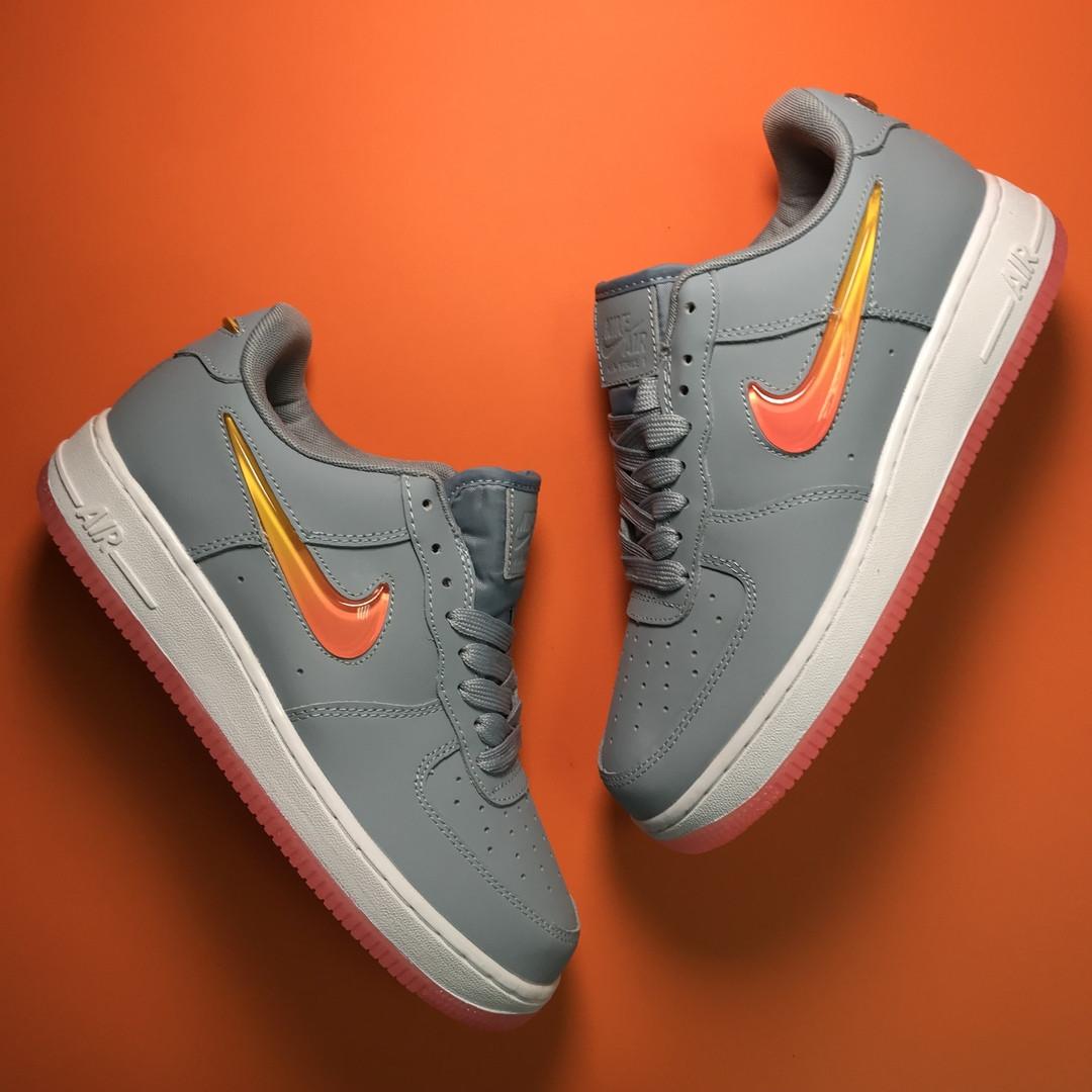 Nike Air Force 1 Low Grey Orange (Серый)