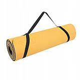 Коврик (мат) для йоги и фитнеса 4FIZJO TPE 1 см 4FJ0201 Orange/Black, фото 5