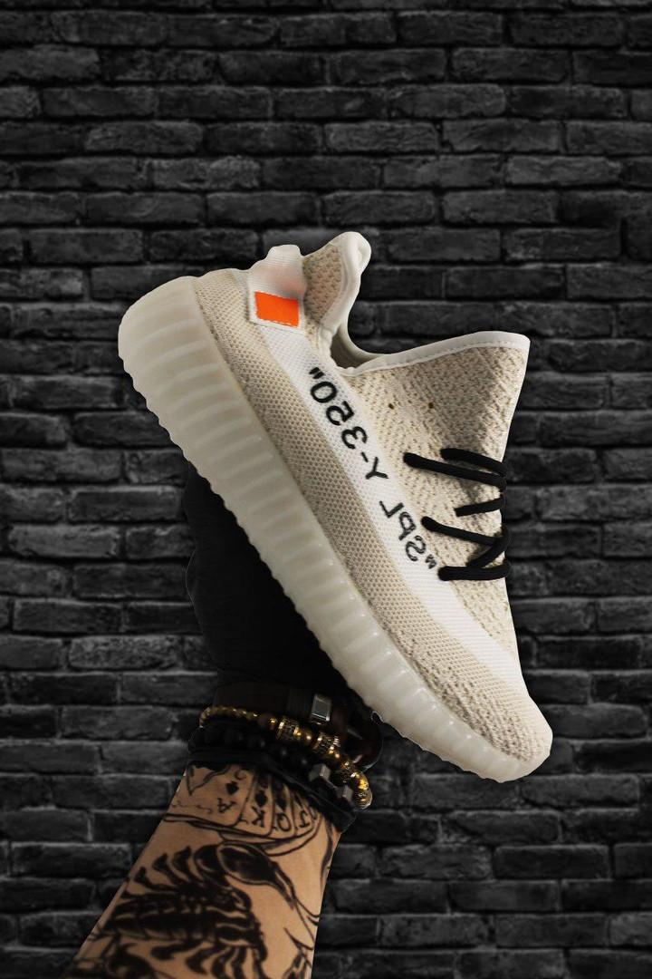 Adidas Yeezy Boost 350 OFF-White Beige  (Бежевый)