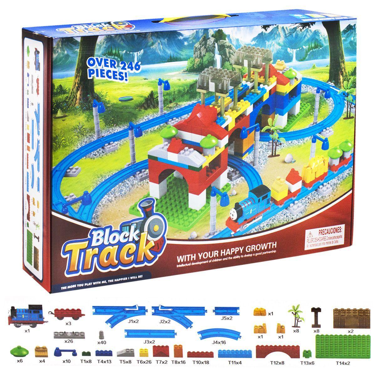 Конструктор - железная дорога для малышей Паровозик Томас, аналог  лего дупло, 599