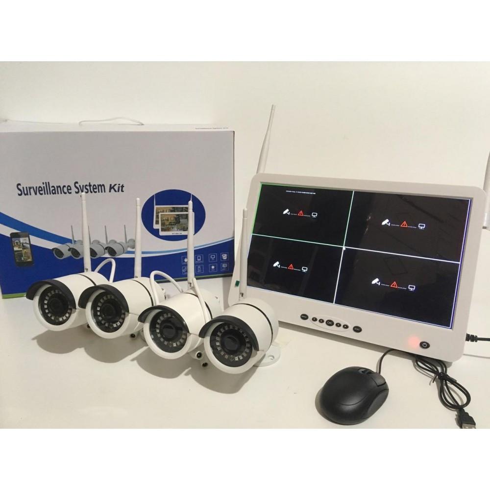 Регистратор + Камеры DVR KIT LCD 13'' 1304 WiFi 4ch набор на 4 камеры
