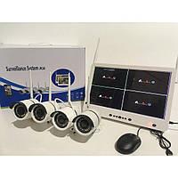 Регистратор + Камеры DVR KIT LCD 13'' 1304 WiFi 4ch набор на 4 камеры, фото 1