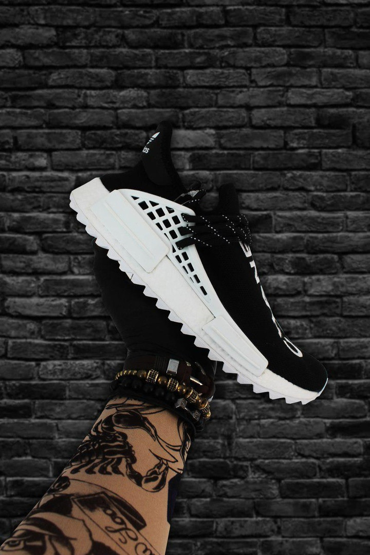 Adidas NMD Human Race Black White (Черный)