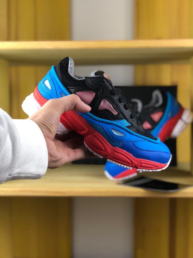Adidas Raf Simons Ozweego Black Red Lucora (Синий)