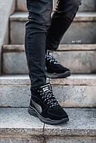 """Зимние ботинки с мехом No Brand (Puma Black Knight) """"Черные"""", фото 3"""