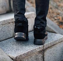 """Зимние ботинки с мехом No Brand (Puma Black Knight) """"Черные"""", фото 2"""
