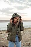 Куртка женская осенняя зимняя короткая с капюшоном, фото 10