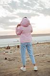 Куртка женская осенняя зимняя короткая с капюшоном, фото 3