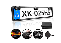Номерная рамка с парктроником 2 Sensor MD / Cистема парковки для автомобиля (Black), фото 1