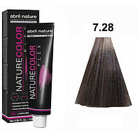 Безаміачна крем-фарба для волосся Abril et Nature Nature Color Plex 7.28 Русявий ирисово-перламутровий 120 мл