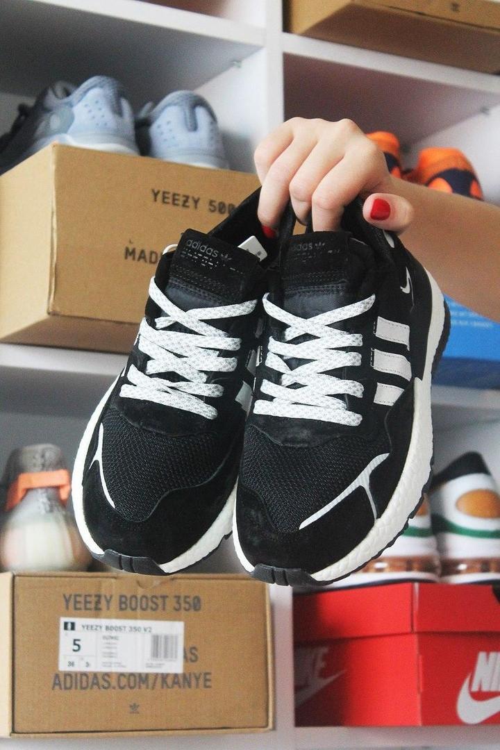 Adidas Nite Jogger Black White (Черный)