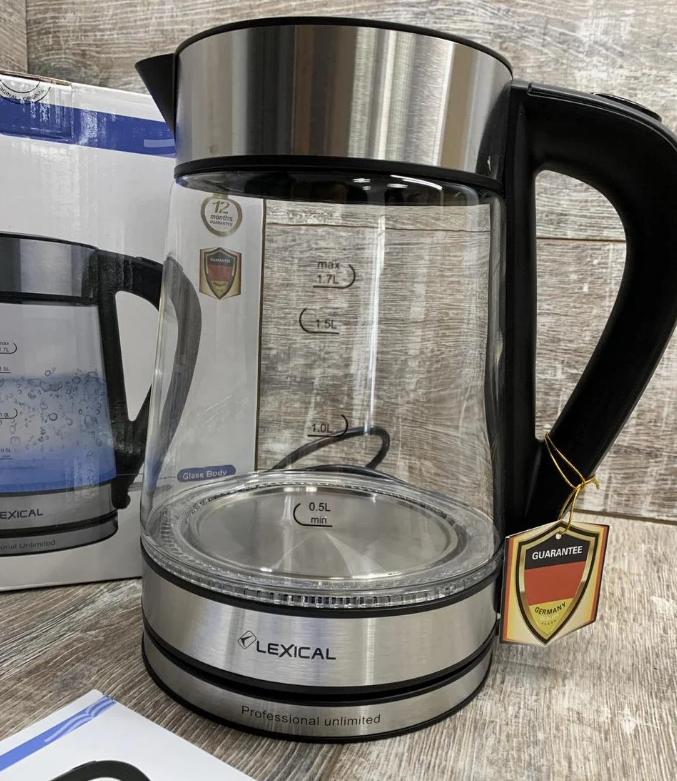 Электрический чайник LEXICAL LEK-1403 1.7л 2200Вт, Дисковый электрочайник