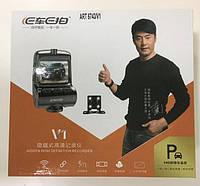 Автомобильный видеорегистратор DVR V1 WI-FI с двумя камерами, фото 1