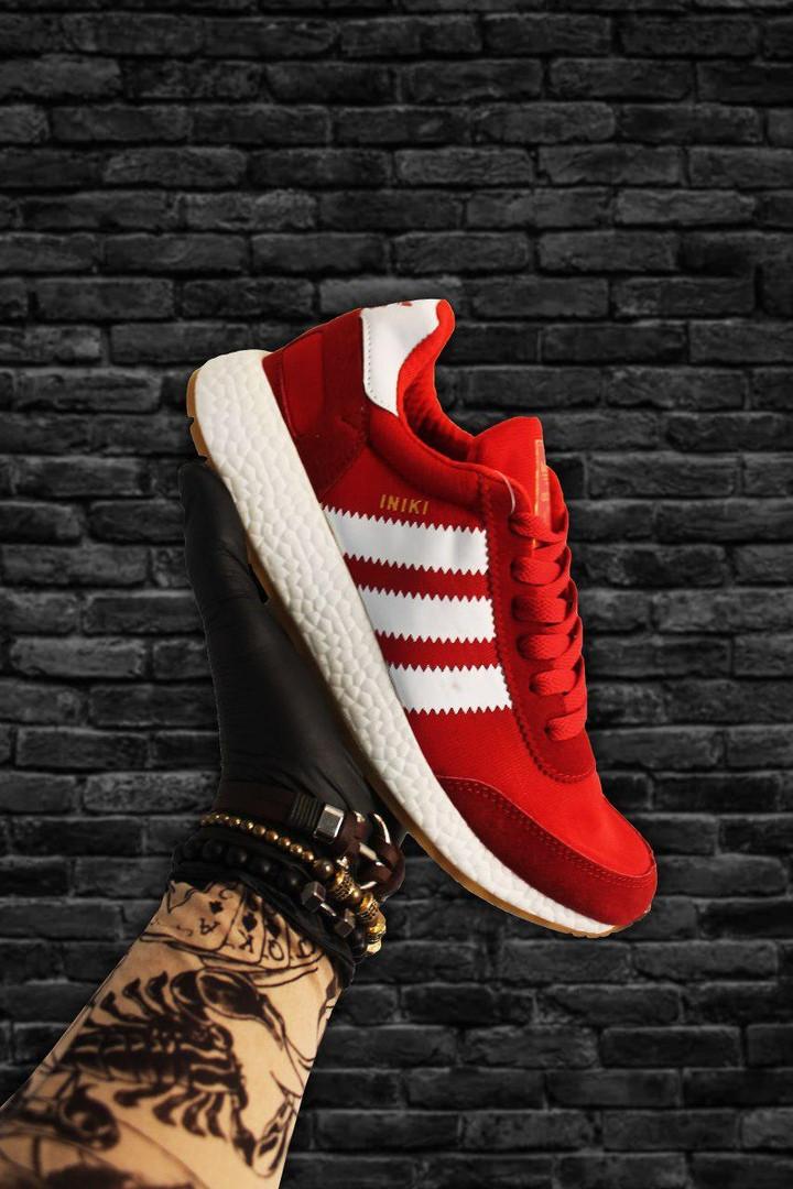 Adidas Iniki Red White (Красный)