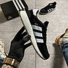 Adidas Iniki Black White (Черный), фото 2