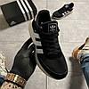 Adidas Iniki Black White (Черный), фото 3
