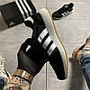 Adidas Iniki Black White (Черный), фото 4