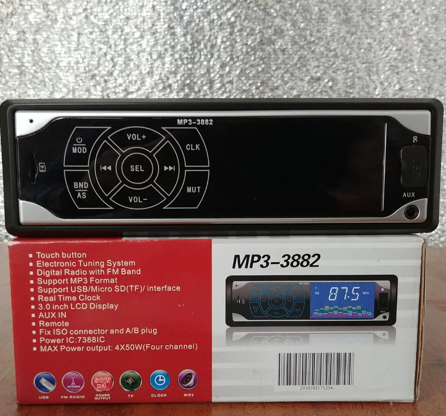 Автомагнитола MP3 3882 ISO 1DIN сенсорный дисплей, Автомобильная магнитола