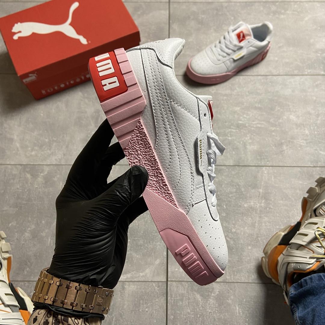 Puma Cali White and Pink Sole (Белый)