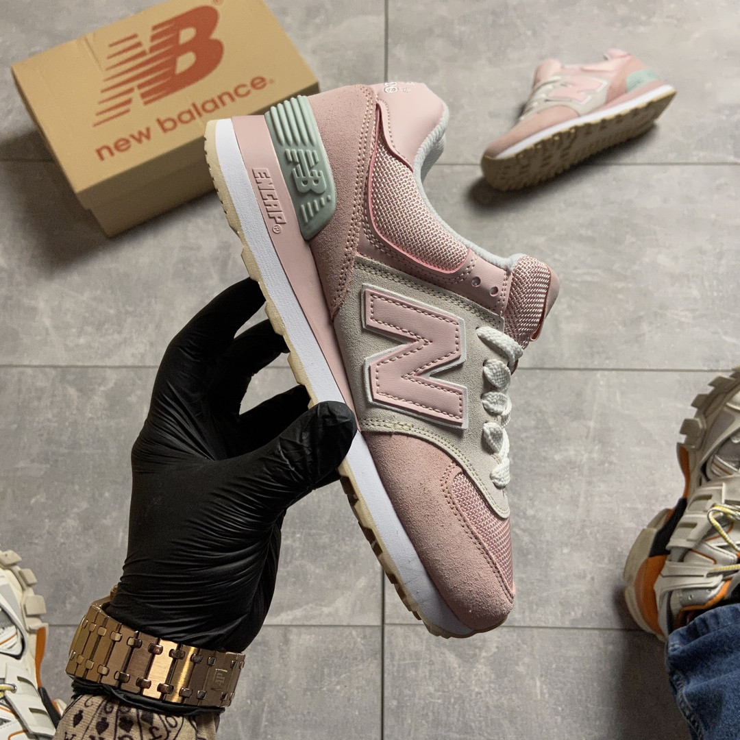 New Balance 574 Pink Suede (Розовый)