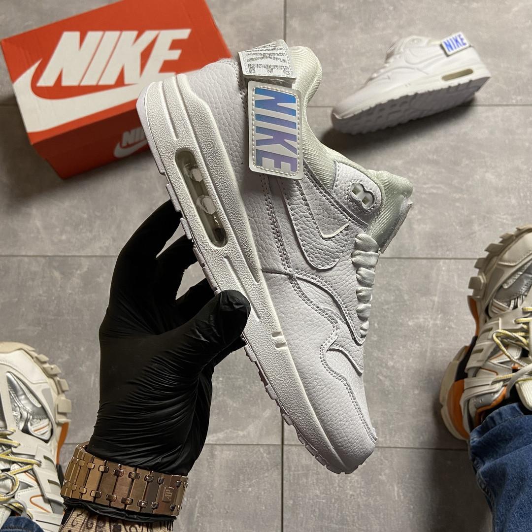 Nike Air Max 1 WMNS Triple White (Белый)