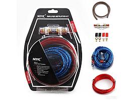 Набор проводов для установки саббуфера kit MD 8, набор кабелей для автоакустики
