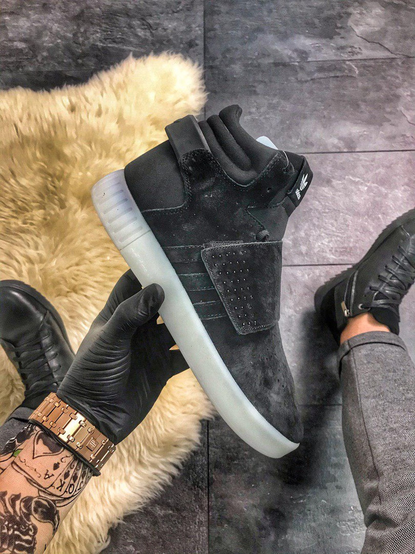 Adidas Tubular Invader Black White Gum (Черный)