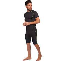 Компрессионный комплект белья мужской (футболка с коротким рукавом и шорты) LD-1102-LD-1501 размер L-3XL цвета
