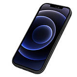 "Nillkin Apple iPhone 12 Mini (5.4"") Aoge Leather Case Black Кожаный Чехол Бампер, фото 4"