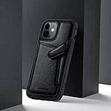 "Nillkin Apple iPhone 12 Mini (5.4"") Aoge Leather Case Black Кожаный Чехол Бампер, фото 5"