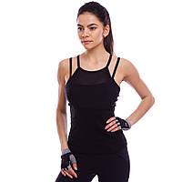 Майка для фитнеса и йоги 1088 (полиэстер, лайкра, S-2XL, цвета в ассортименте)