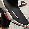 Balenciaga Speed Trainer Black and White/Red (Чёрный), фото 5