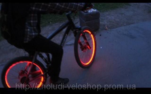 подсветка велосипеда,неоновая подсветка велосипеда,купить неон,купить неоновій провод