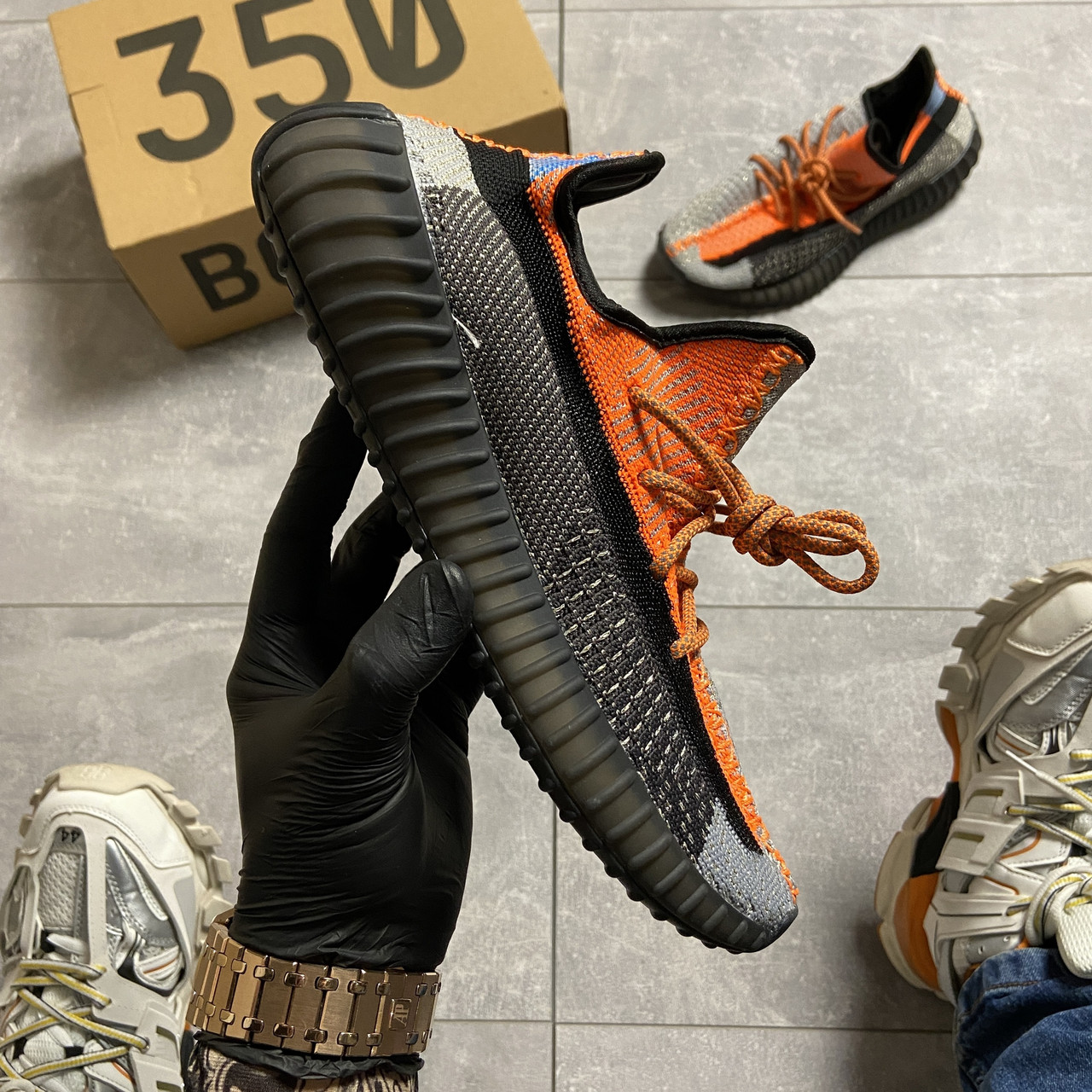 Adidas Yeezy Boost 350 Orange Reflect (Оранжевый)