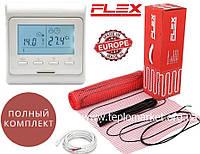 Теплый пол дома Flex EHM-175/ 15м² 2625Вт нагревательный мат с программируемым терморегулятором E51