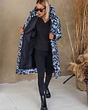 Куртка женская зимняя длинная тёплая с капюшоном, фото 5