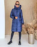 Куртка женская зимняя длинная тёплая с капюшоном, фото 8