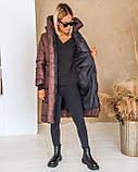 Куртка женская зимняя длинная тёплая с капюшоном, фото 6